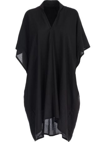 Y's Dress S/s V Neck Collar Flare