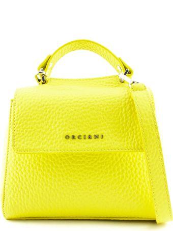 Orciani Sveva Mini Yellow Leather Handbag