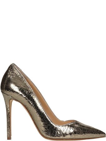 The Seller Gold Crack Leather Pumps