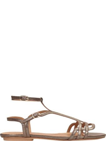Chie Mihara Bronze Yeal Leather Sandals