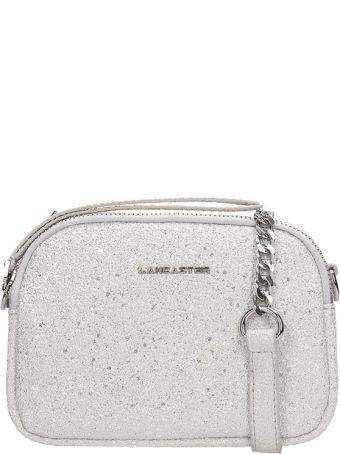 Lancaster Paris Silver Glitter Mini Crossbody Bag