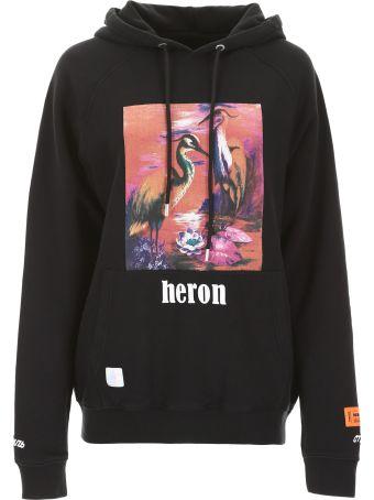 HERON PRESTON Heron Birds Oversized Hoodie