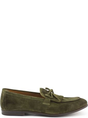 Doucal's Sage-tone Suede Loafer
