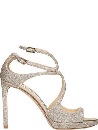 Jimmy Choo Lance 100 Platinum Sandals