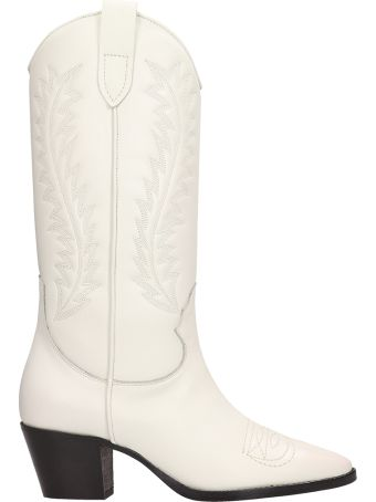 Paris Texas White Leather Texan Boots