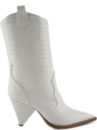 Aldo Castagna White Leather Boots