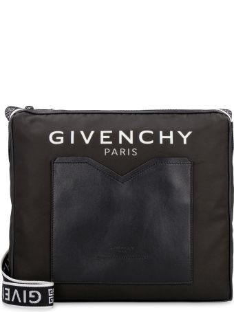 Givenchy Leather And Nylon Messenger Bag