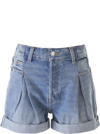 RE/DONE Denim Shorts With Darts