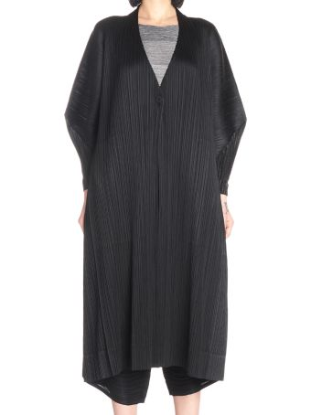 Pleats Please Issey Miyake 'stilted Form'  Cardigan