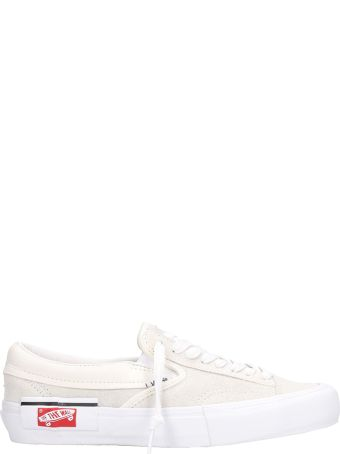 Vans White Suede And Fabric Slip On Cap Lx Sneakers