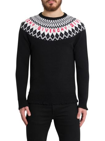 Givenchy Jaquard Sweater In Merinos