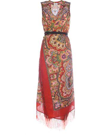 VETEMENTS Printed Wrap Scarf Dress