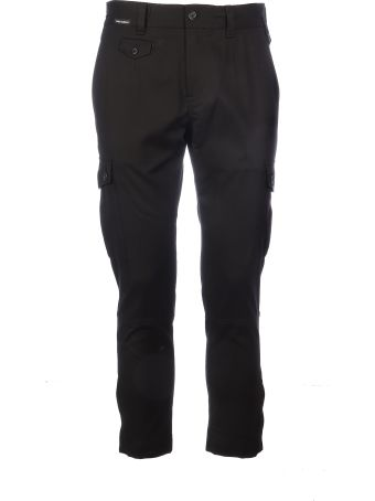Dolce & Gabbana Cotton Pant With Pockets On The Sides