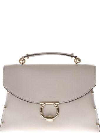 Salvatore Ferragamo Margot White Leather Bag