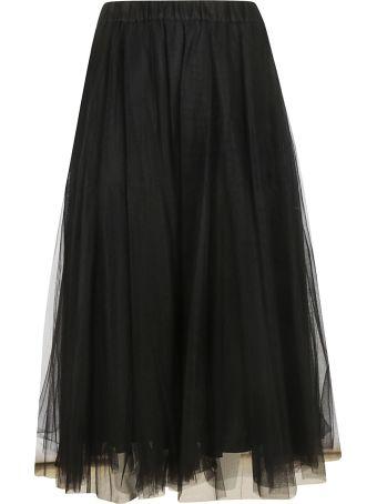 Parosh Tulle Midi Skirt