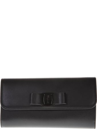 Salvatore Ferragamo Black Leather Bag