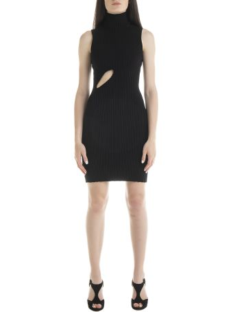 MM6 Maison Margiela Cut-out Detail Ribbed Dress