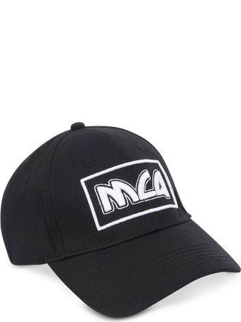 McQ Alexander McQueen Metal Logo Cotton Baseball Cap