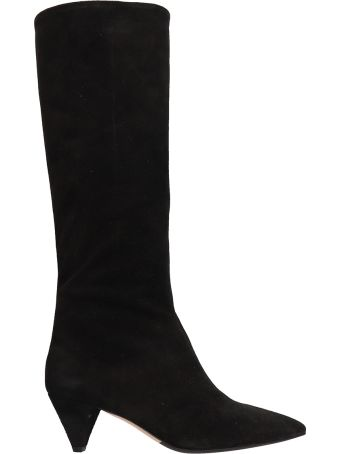 The Seller Black Suede Hight Boot
