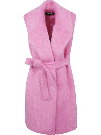 Rochas Sleeveless Belted Coat