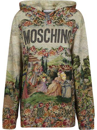 Moschino Floral Logo Print Hoodie