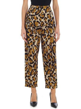 Tela Leopard Print Trousers