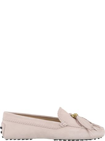 Tod's Suede Gommino Loafers With Feathers