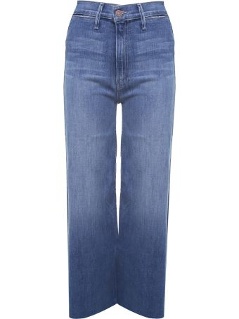 Mother Swooner Crop Fray High-rise Jeans
