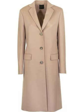Agnona Cashmere Slim Coat, Rose Nude