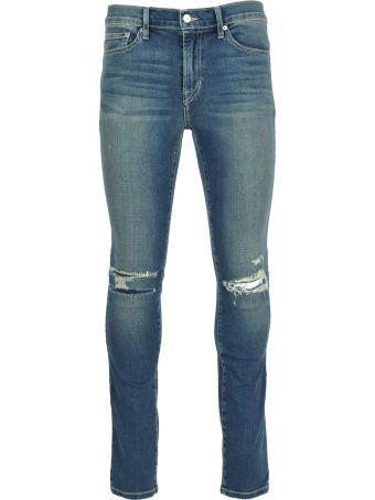 Stampd la Stampd Distressed Skinny Jeans