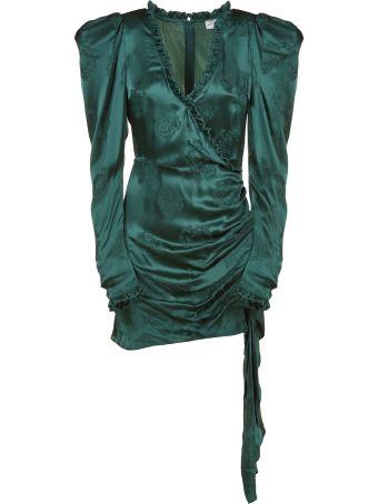 Magda Butrym Rose Pattern Draped Dress