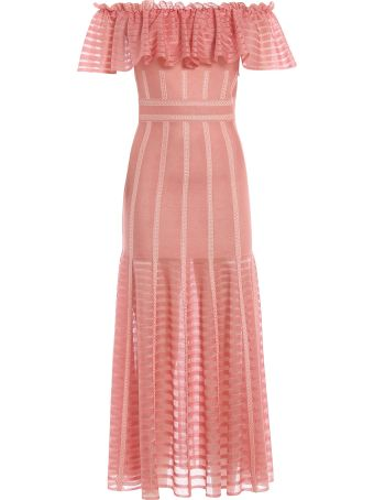 Alexander McQueen Off-shoulder Ruffled Dress