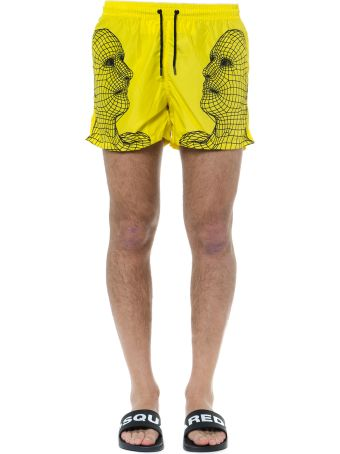 Frankie Morello Yellow And Black Jonathan Swimsuit