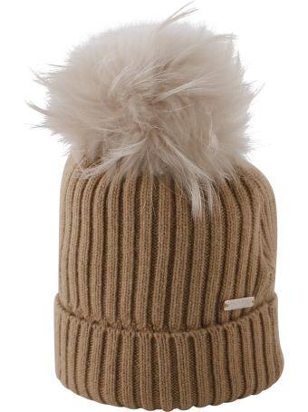 Woolrich Fur Pom Pom Hat
