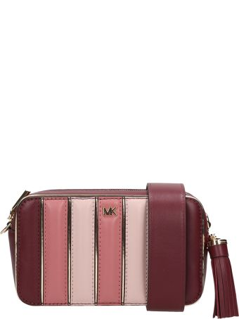 Michael Kors Burgundy-pink Leather Sm Camera Handbag