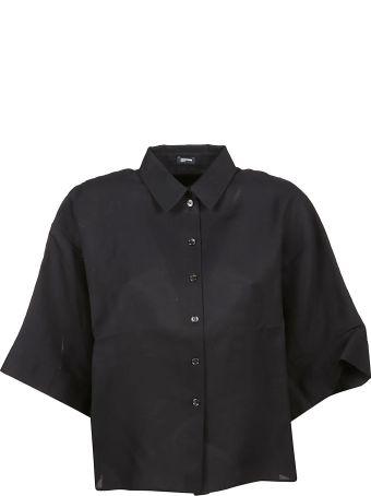 Jil Sander Navy Three Quarter Sleeve Shirt
