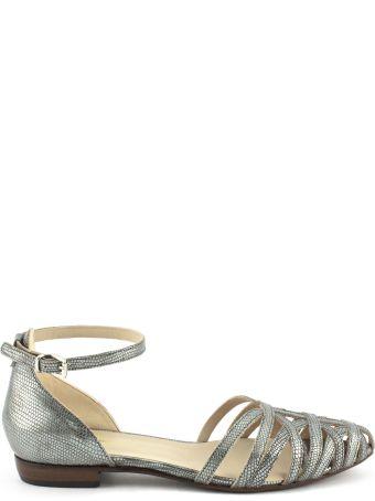 Duccio del Duca Silver-tone Leather Alysia Sandals