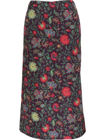 La DoubleJ Floral Printed Skirt