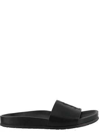 Saint Laurent Logo Ysl Slide Sandals