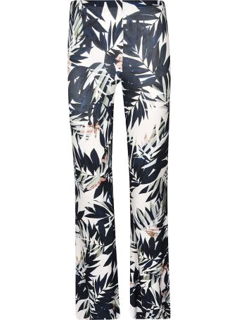 Black Coral Printed Trousers