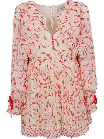 self-portrait Crescent Chiffon Printed Dress