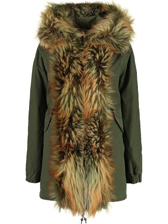 Mr & Mrs Italy Hooded Parka With Fur Trimming