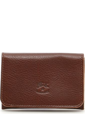 Il Bisonte Grain Leather Cardholder