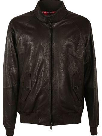 Baracuta Zipped Leather Jacket