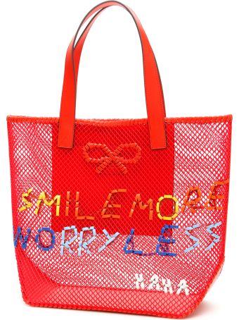 Anya Hindmarch Smile Woven Tote Bag