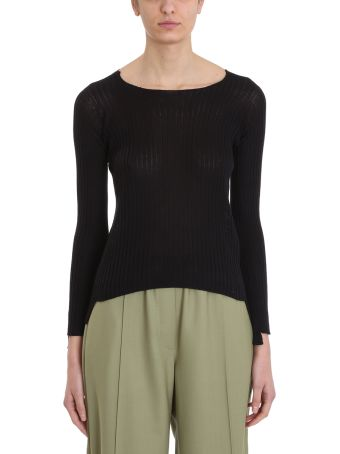 Maison Flaneur Knit Black Silk Sweater