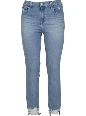 J Brand Ripped Hem Jeans