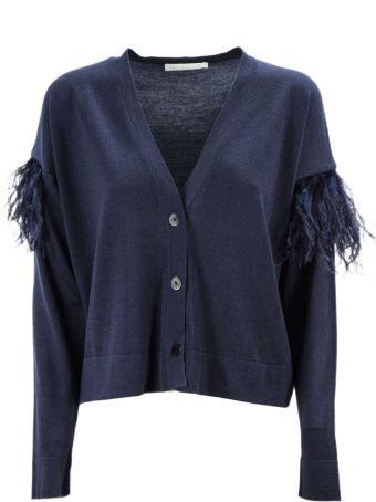 Fabiana Filippi Blue Merino Wool Blend Cardigan