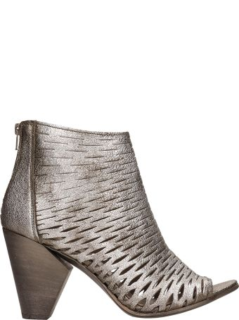 Strategia Boston Net Metal Grey Ankle Boot