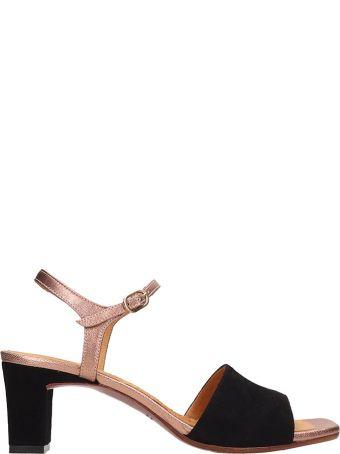 Chie Mihara Black Lora Suede Sandals
